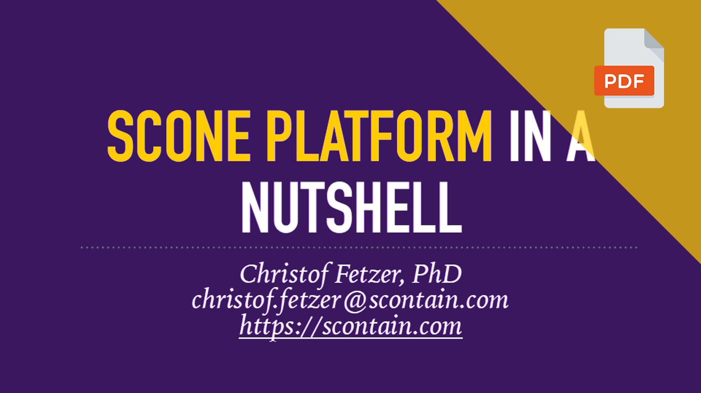 SCONE Platform Slide Preview